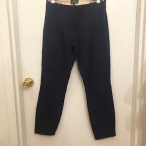 J. Crew Minnie Pant in Stretch Twill Navy Sz 4